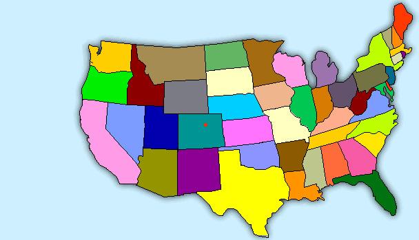 Mei Cartoon Map Of USA - Cartoon map of the us